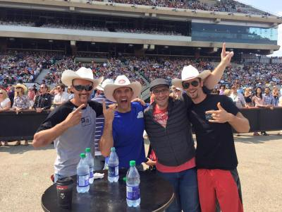 Hervé, Alex, Claude, and I at the Calgary Stampede