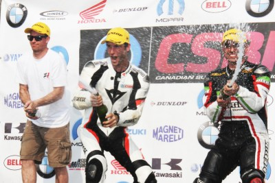 CSBK 2015 Rd 4 race - Edmonton, Podium first position