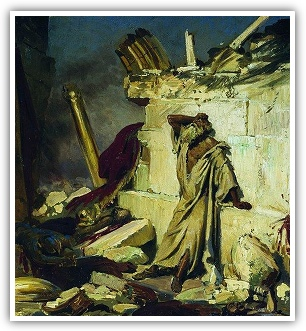 Cry of prophet Jeremiah on the Ruins of Jerusalem by Ilya Yefimovich Repin