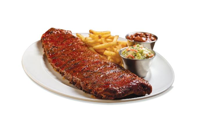 fall-off-the-bone tender St. Louis-style Hickory-Smoked Ribs at Hard Rock Cafe Koh Samui
