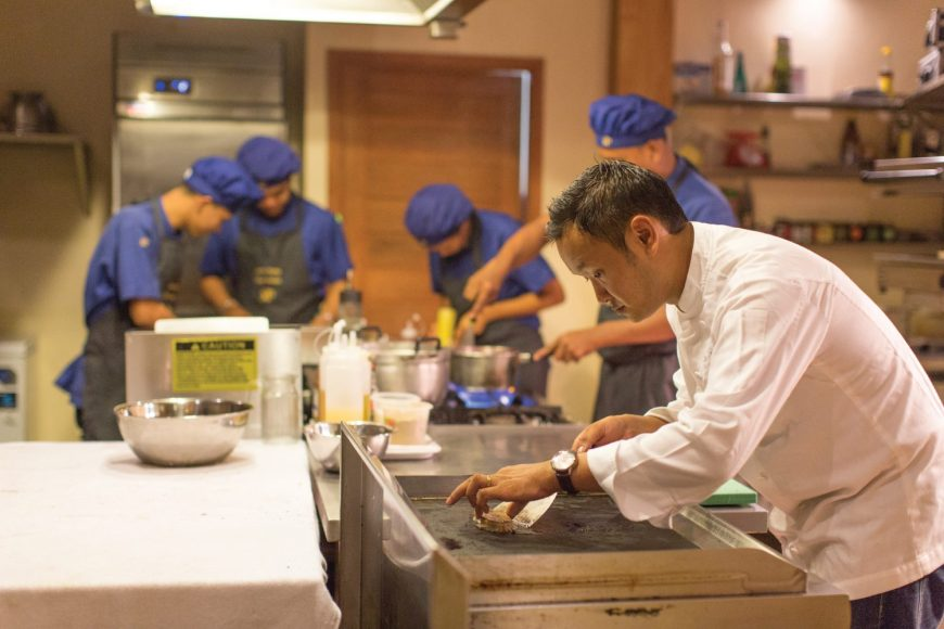 several chefs at MP