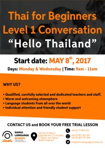 High quality, affordable Thai Language Course in Koh Samui