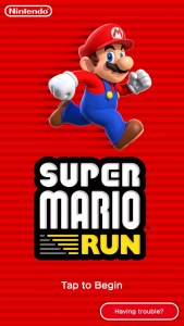 Super Mario Run Start screen