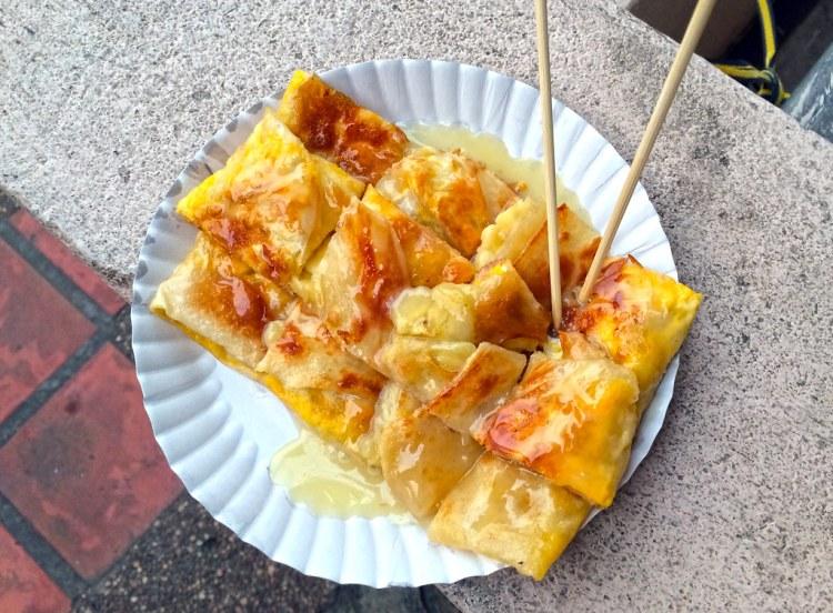 THAI BANANA PANCAKE SWEET STREET FOOD IN PHUKET