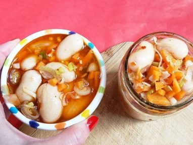 Porotos al escabeche