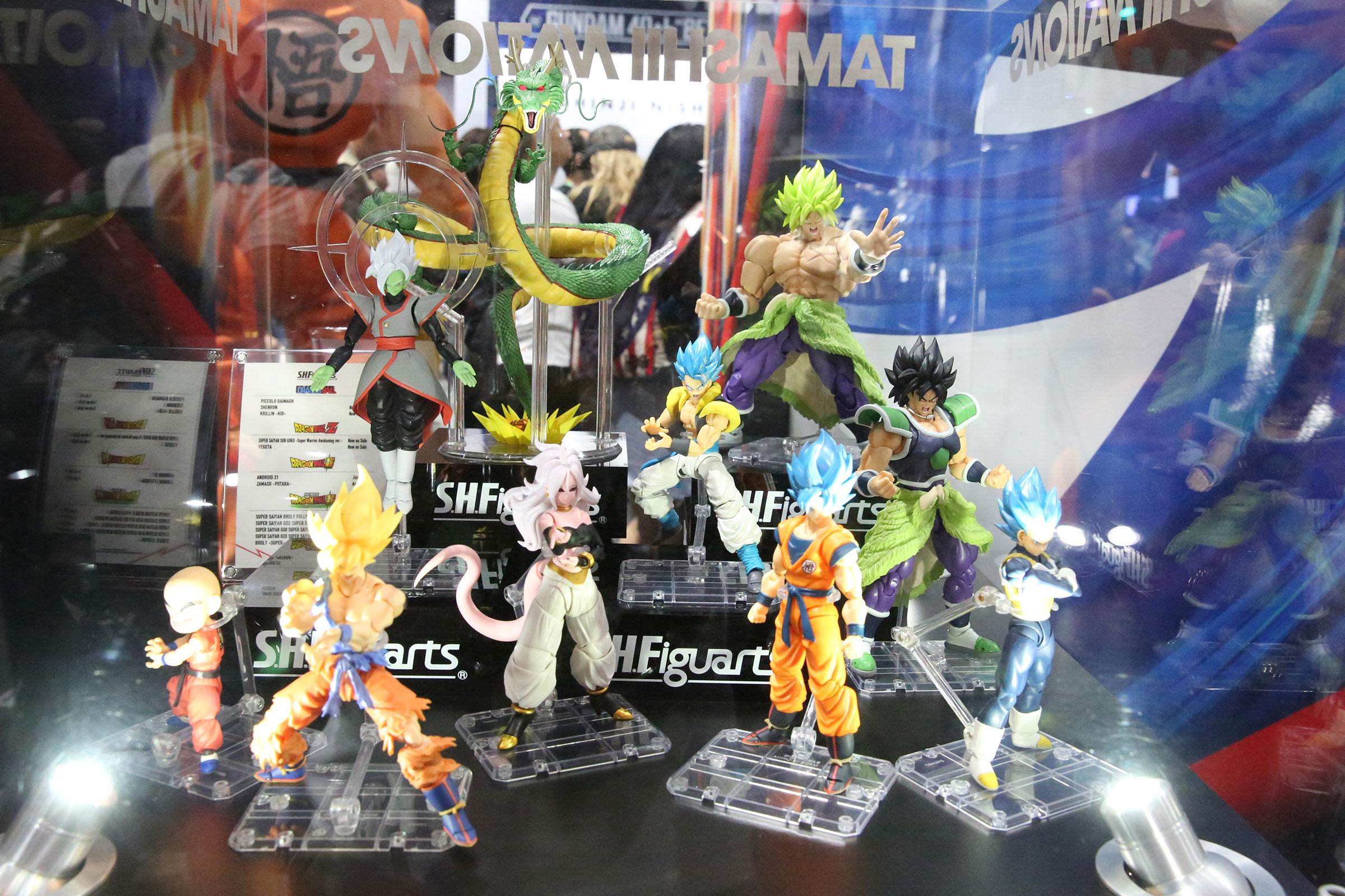 SDCC 2019 Bandai Tamashii Goku Black Figuarts Bluefin Super Saiyan Rose Dragon Z