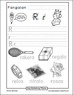 Katinig Handwriting Worksheets R To V