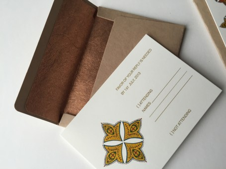 RSVP Envelope made from natural paper