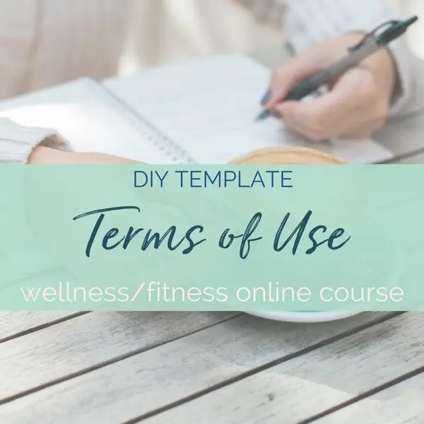 terms of use agreement template