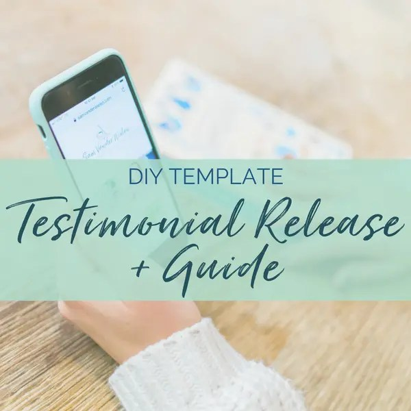 testimonial release template