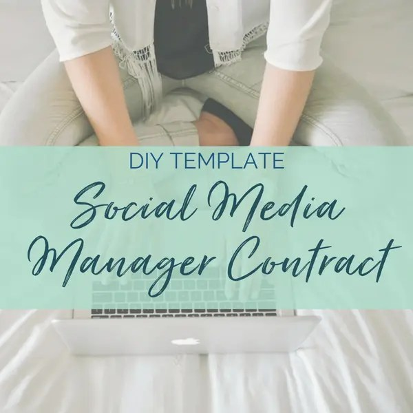social media management freelance contract