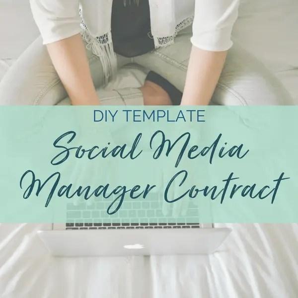 social media manager contract template diy legal templates sam vander wielen health coach business coach online entrepreneur
