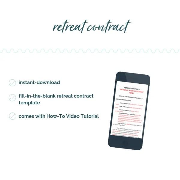 retreat contract template. retreat contract. retreat waiver. sam vander wielen. diy legal templates.