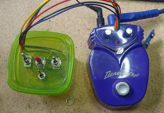 Guitar pedal circuit bending