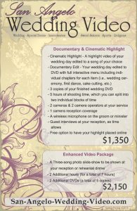 West Texas Bridal Show Price Sheet