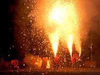 手筒花火の写真