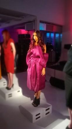 L'Oreal Paris Fashion Show & Concert Event -fashion show burgundy dress