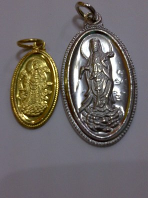These are Kuan Yin pendants from my personal collection. Got several pieces of these pendants to be able to sell them to those who are interested.