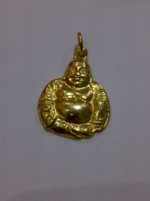This a Maitreya Buddha pendant, who is famously called as the Happy Fat Buddha. This is made of 24k gold and is from my private collection. I chose this pendant because of its nice facial features.