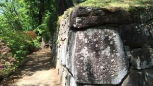 沼田城の西櫓跡にある石垣
