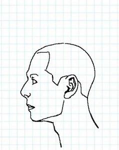 横顔描き方9a