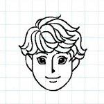 マス目の顔10e