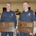 Brothers Kevin Hall, left, and Keith Hall were were both winners of the 2017 Golden Axe Award for San Andreas Fire Protection District.