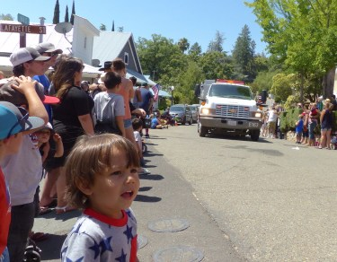 Throngs packed Main Street for the parade.