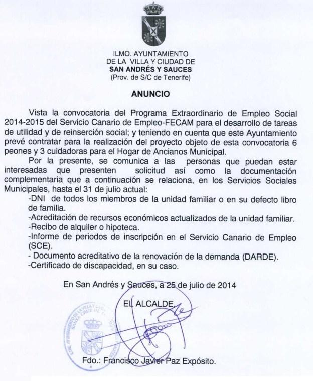 ANUNCIO ALCALDIA 25 JULIO