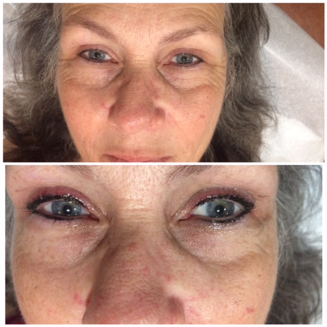 Eyeliner Cosmetics Makeup Before and After San Antonio