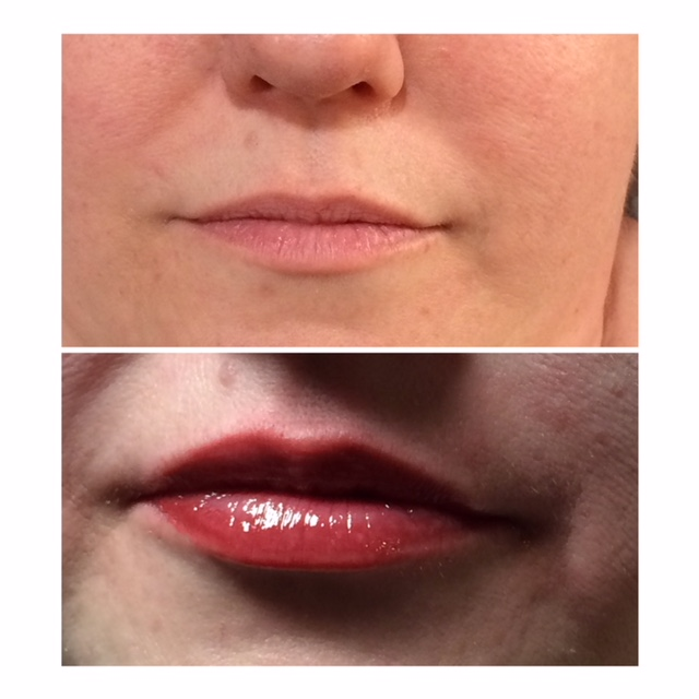 Full Lip Tattoo Before and After