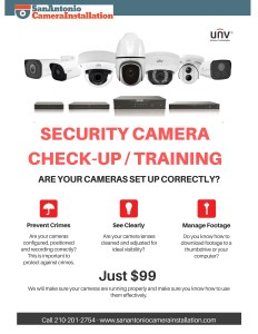 Security Camera Check-Up Training