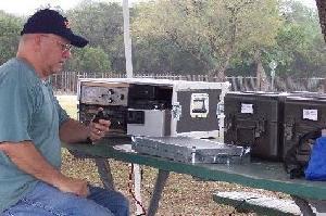 Bob W2IK with his portable emcom radio setup