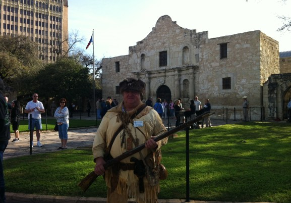Who exactly today is remembering the Alamo?