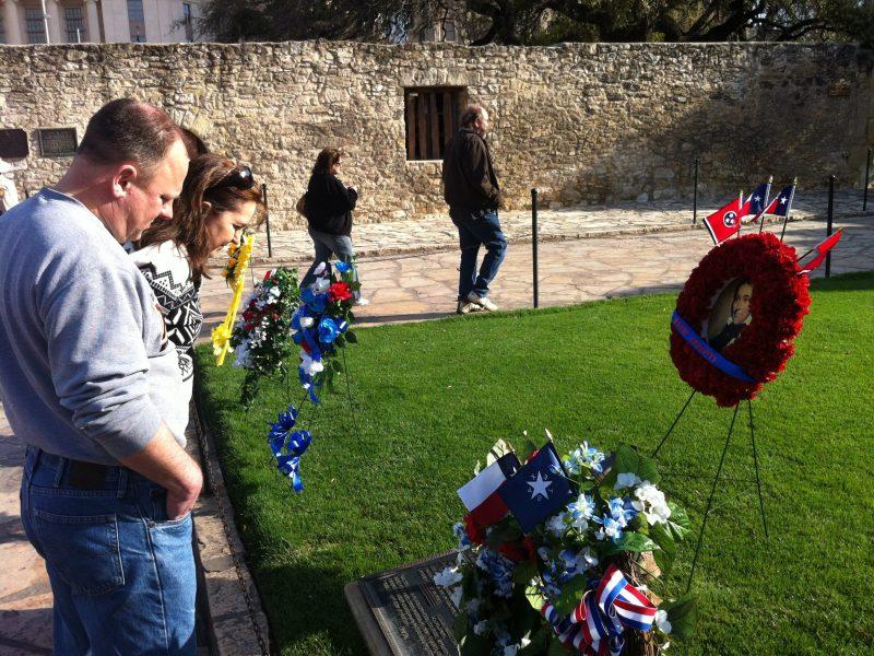 Vistors celebrate the 176th anniversary of the Battle of the Alamo