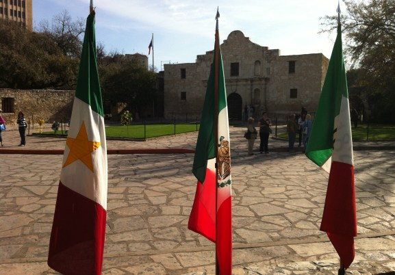 All quiet at the Alamo on the 176th anniversary