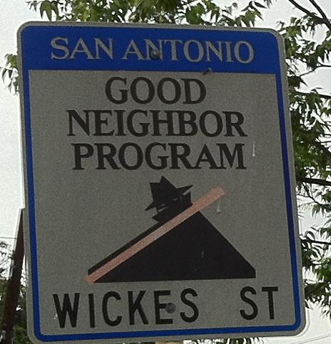 Good Neighbor Program Sign