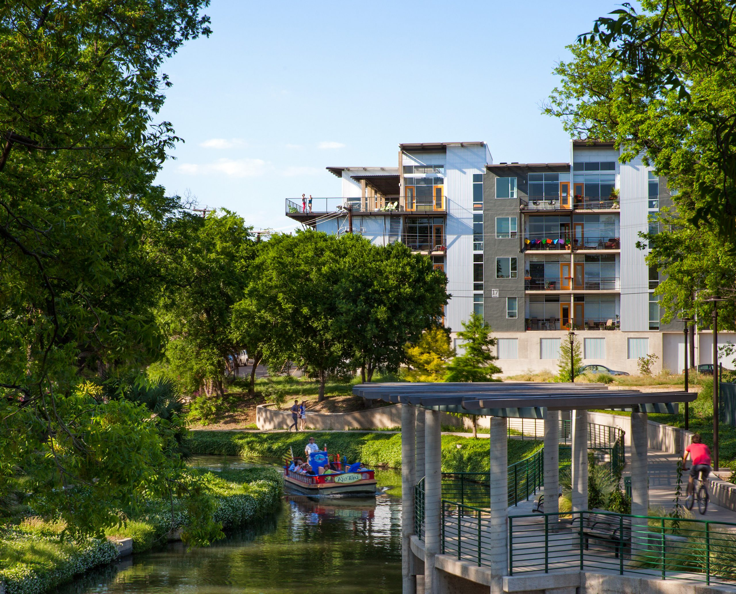 A view of the San Antonio River outside 1221 Broadway.