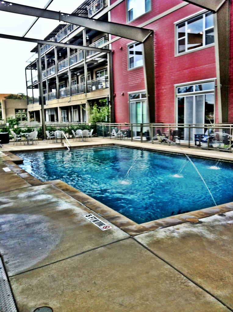 The loft's pool.