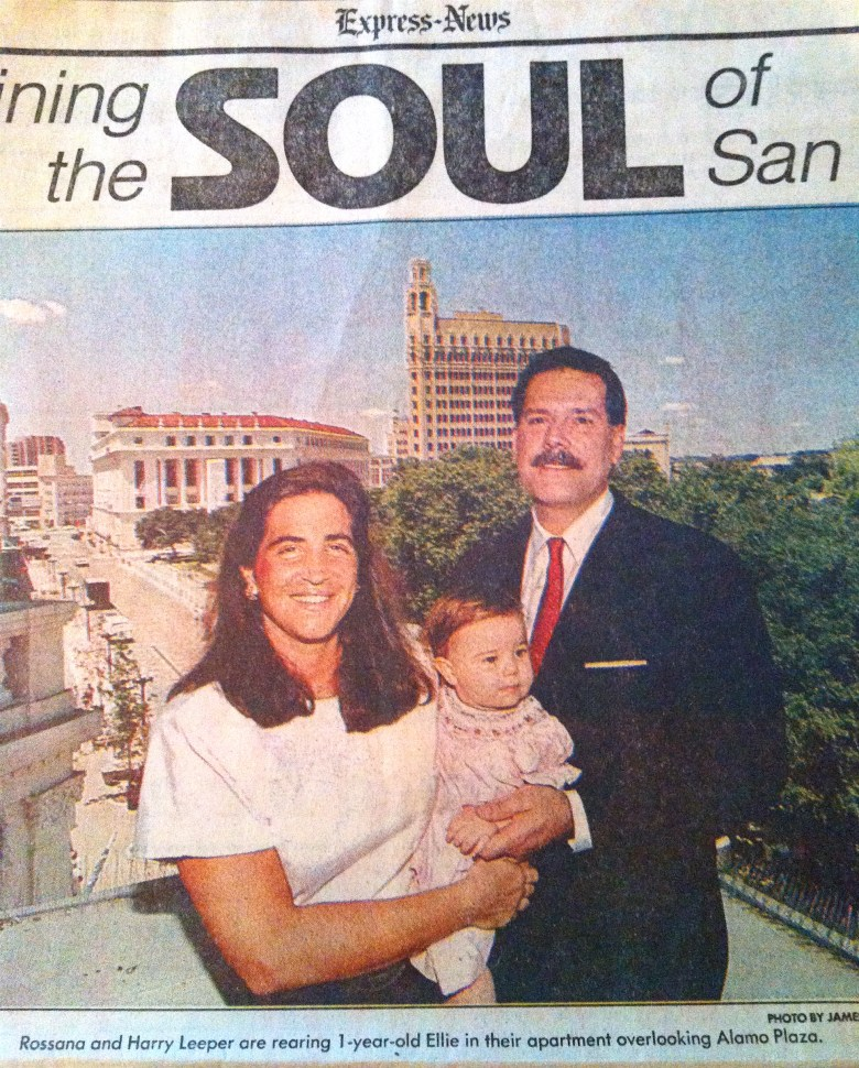 Leeper Family, 1990: Ellie was born, raised and still living downtown