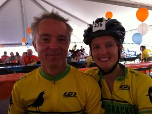 Third Street Grackles captains Brian Comeaux and Rebecca Bruce