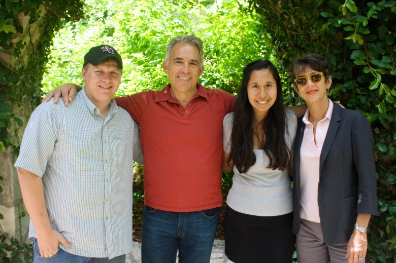 The Rivard Report founding team. Don and Carolina, we are only here today because of your support and intellect. Thank you both! From Left: Don Dimick (no relation), Robert Rivard, Carolina Canizales and Monika Maeckle.