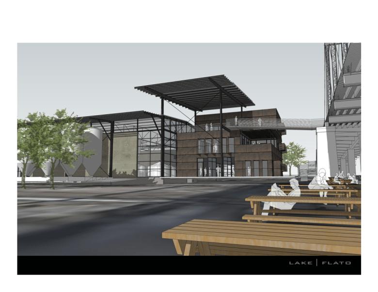 Alamo Brewery Artist rendering