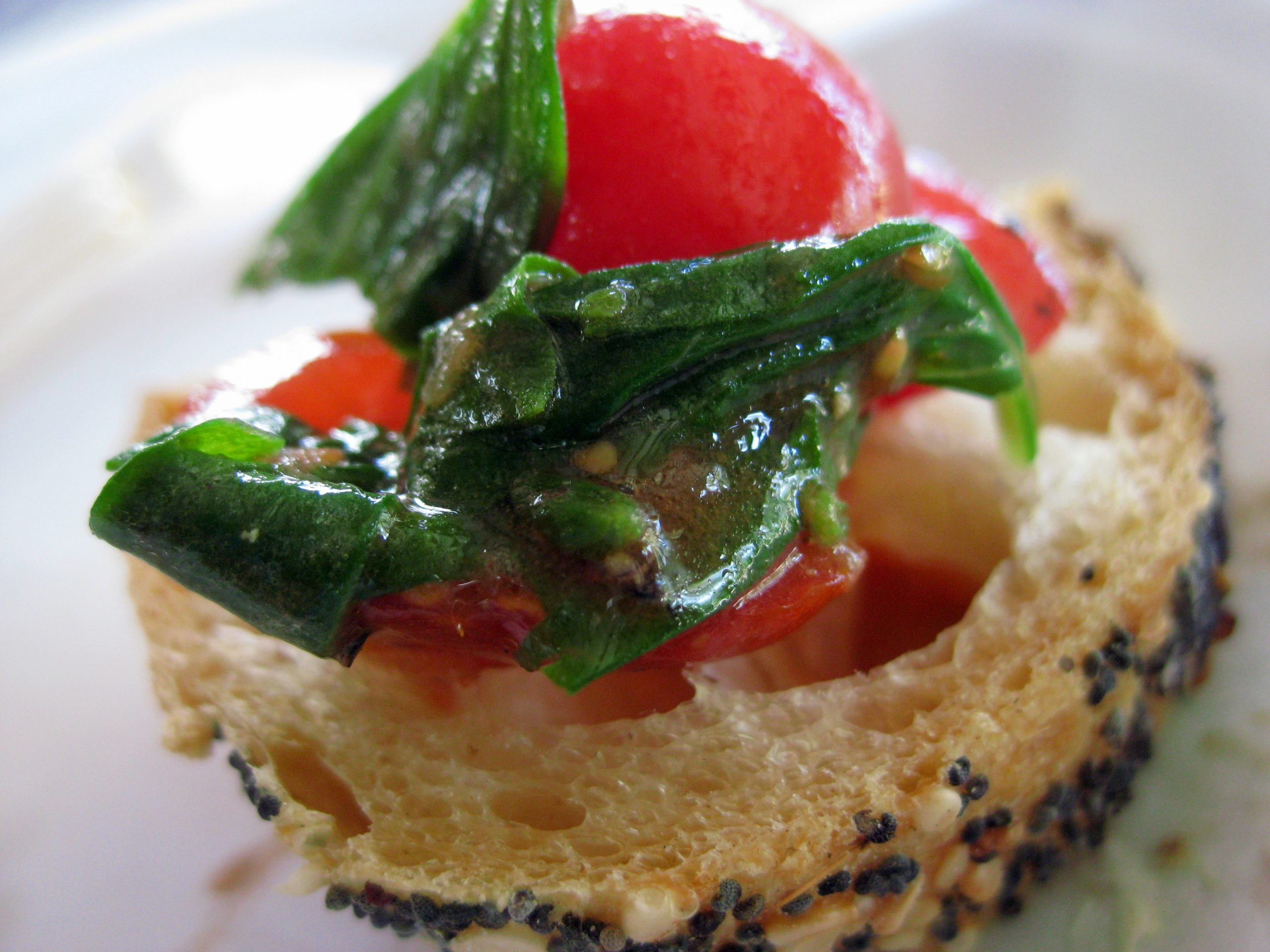 A light and fresh version of bruschetta. Photo by Megan O'Kain Lotay.