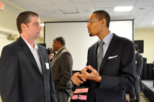 James Russell (left), geographer, and Darryl Byrd, CEO of SA2020.