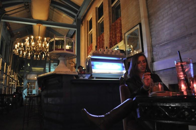 Miriam Sitz enjoys a cocktail at Ocho.