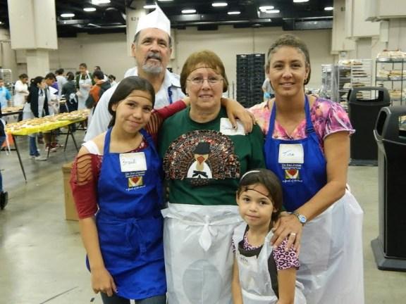 Sandra McBride and Family at the Raul Jimenez Thanksgiving Dinner