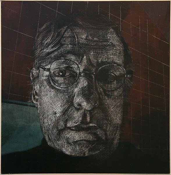 Self Portrait by Harold J Wood