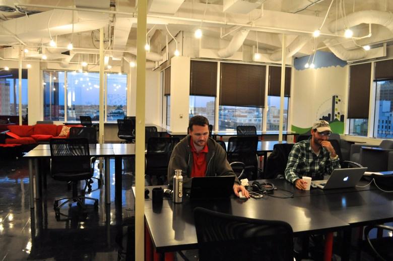 Tex Morgan and Steve Flannery at Geekdom.