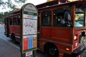 VIA Streetcar/Trolley in Alamo Plaza